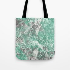 Green Grey Marble Tote Bag