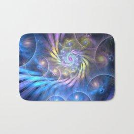 fractal: spiralling soul Bath Mat
