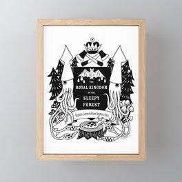 The Royal Kingdom of the Sleepy Forest Framed Mini Art Print