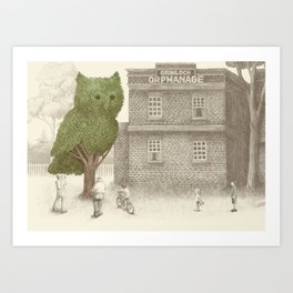 The Night Gardener - The Owl Tree Art Print