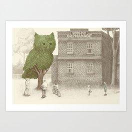 The Night Gardener - The Owl Tree Art Print