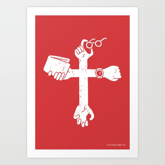 Sign of the Cross Art Print