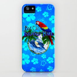 Blue Flowers Island Time Surf iPhone Case