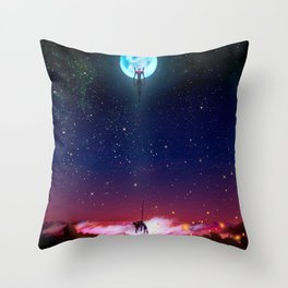 Evangelion Moon Throw Pillow