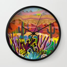 Reaching the Mountain Top Wall Clock