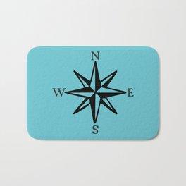 Compass Rose NOSW (Monochrome) Bath Mat