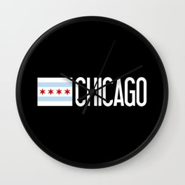 Chicago: Chicagoan Flag & Chicago Wall Clock