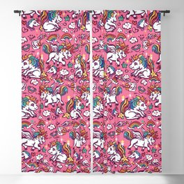 Baby unicorns Blackout Curtain