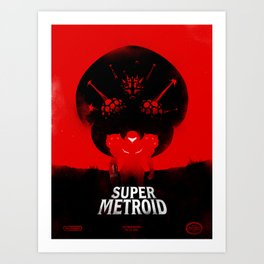 Super Metroid Art Print
