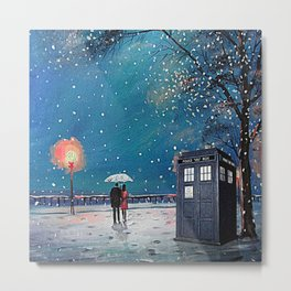 Tardis of starry night Metal Print