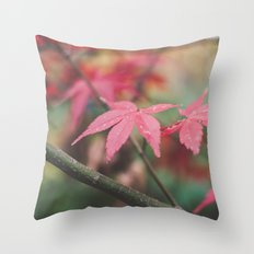 Autumn, The Red Leaf. Throw Pillow