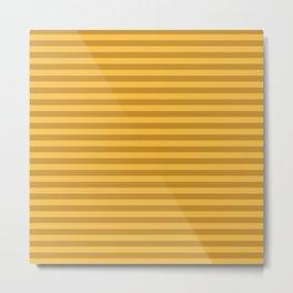 Autumn Time - mustard yellow stripes Metal Print