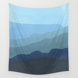 Landscape Blue Wall Tapestry