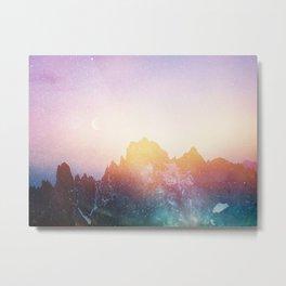 Abstract Land Metal Print
