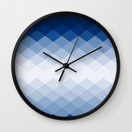 Navy rhombs Wall Clock