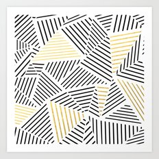 A Linear White Gold New Art Print