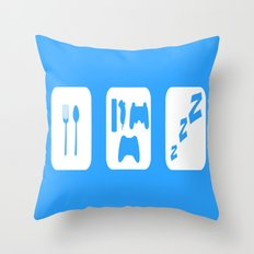 Eat. Game. Sleep Throw Pillow