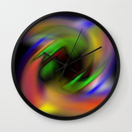 Curves of Color Wall Clock