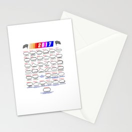 Calendar Nascar Cup Series 2017 Stationery Cards
