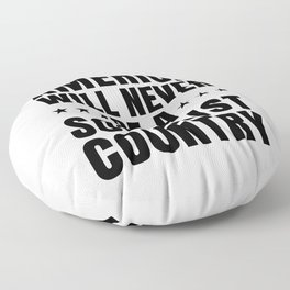 AMERICA WILL NEVER BE A SOCIALIST COUNTRY - TRUMP SAY Floor Pillow