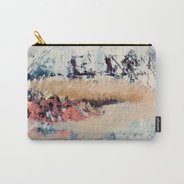 Artemis [2]: a gorgeous minimal abstract piece in purples blues and gold by Alyssa Hamilton Art Carry-All Pouch