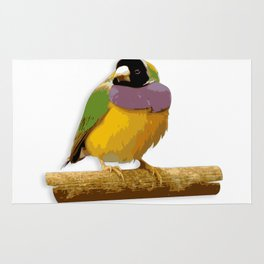 Colorful little birds. Rug