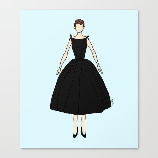 Audrey Hepburn Vintage Retro Fashion 1 Canvas Print