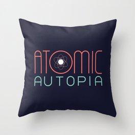 Atomic Autopia Throw Pillow