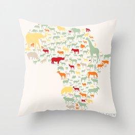 Endangered Safari - without animal names Throw Pillow