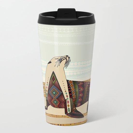 sea lion Metal Travel Mug