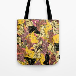 Butterfly Wings in Bold Yellow Tote Bag