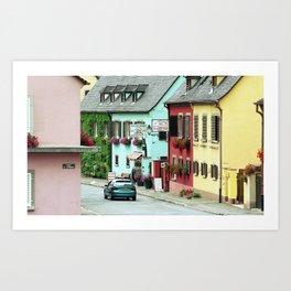 Pastel Town : Alsace Art Print