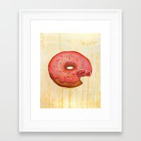 donut Framed Art Prints featuring Donut by colorlabo