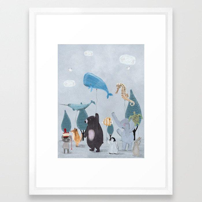 nature parade Framed Art Print