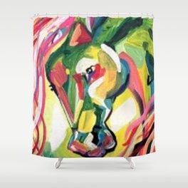 Rainbow Horse Shower Curtain
