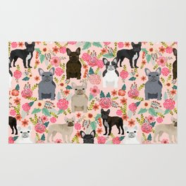 French Bulldog must have florals gifts dog breed pet lover frenchies forever Rug