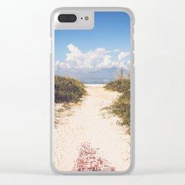 The Beach Path Clear iPhone Case