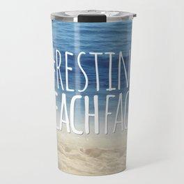 #RestingBeachFace Travel Mug