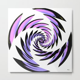 Tiger Tracks Purple Metal Print