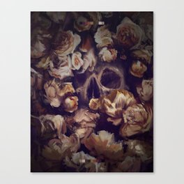 Flowers Grave -  Expresive Digital Oil Painting. Canvas Print