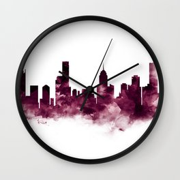 Melbourne Skyline Wall Clock