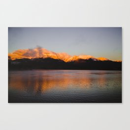 Sun Tipped Mountains Canvas Print