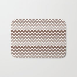 Brown Ombre Chevron Bath Mat