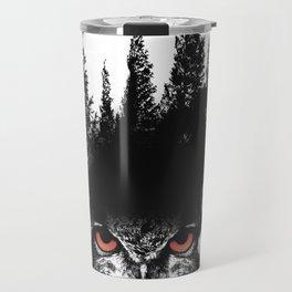 Owl Forest Travel Mug