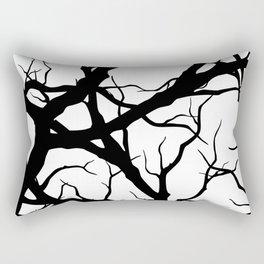 Black n White branche Rectangular Pillow