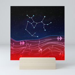 Sagittarius Zodiac Constellation Design Mini Art Print