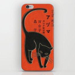Vintage Art Deco Japanese Black Cat iPhone Skin