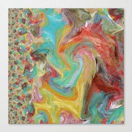 A Mix of Happy Colors Canvas Print