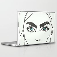 cara delevingne Laptop & iPad Skins featuring Cara delevingne by Mary Naylor