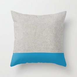Concrete Blue Throw Pillow